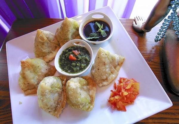 The delicate and flavorful samosas at Mayur in Corona Del Mar.