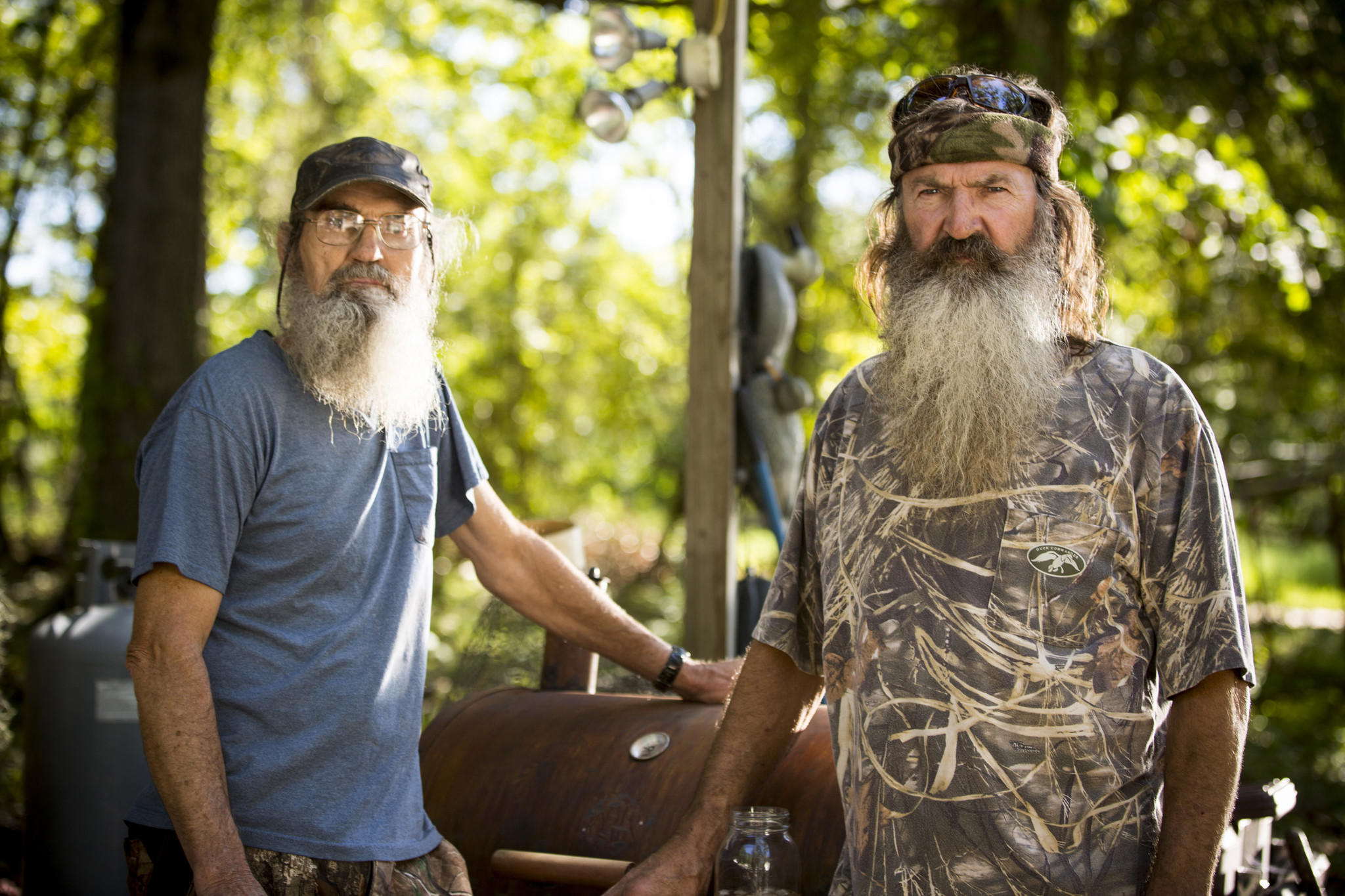 """Brothers Silas """"Uncle Si"""" Robertson, left, and Phil Robertson… (Zach"""