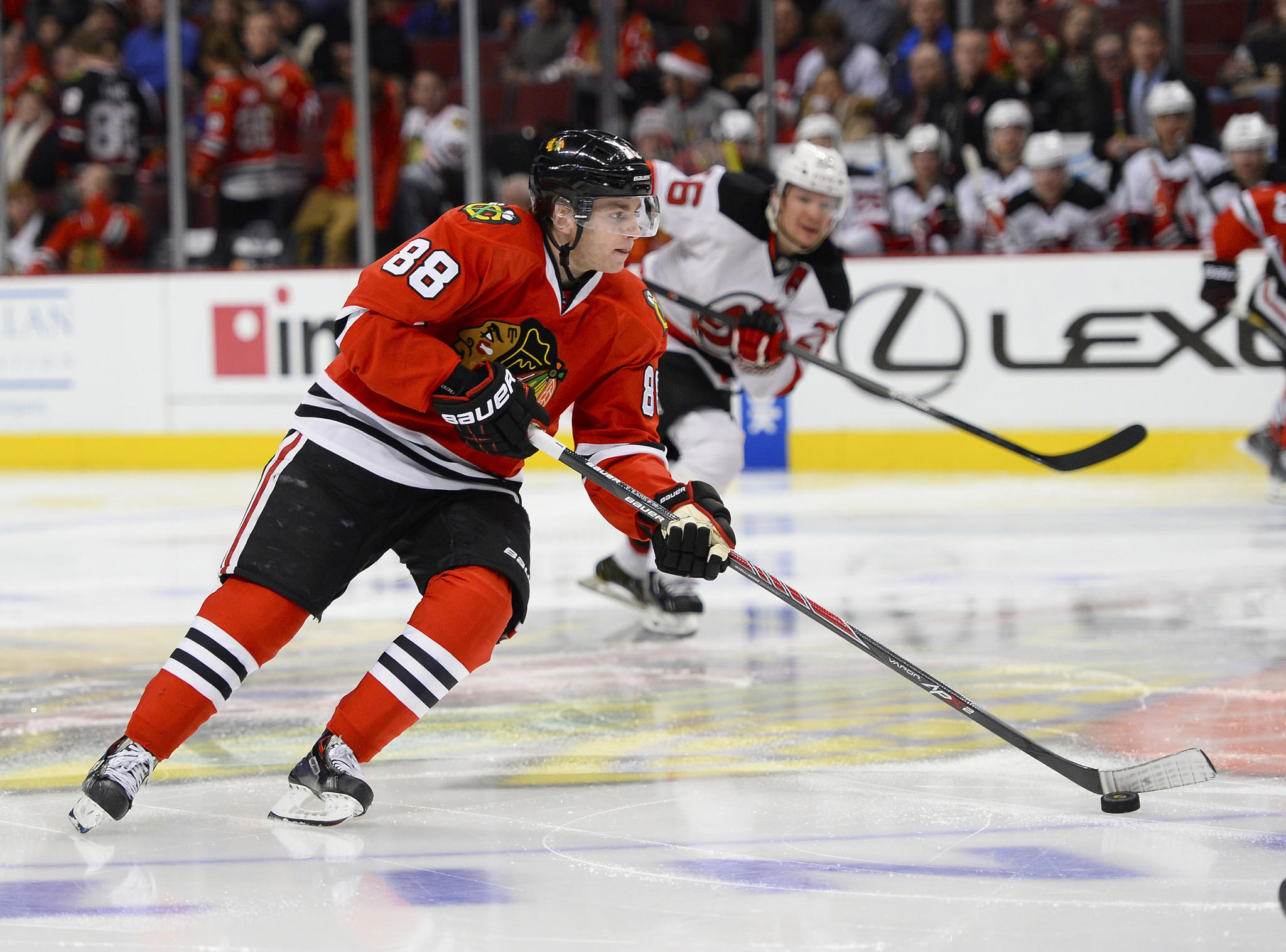 Hawks forward Patrick Kane has an admirer in Devils star Jaromir Jagr.