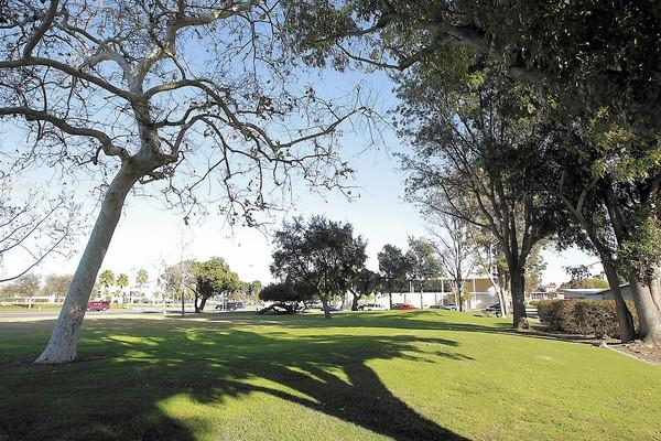 Homeowners associations are beginning to oppose a planned homeless housing facility near City Hall in Costa Mesa at Civic Center Park, shown above.