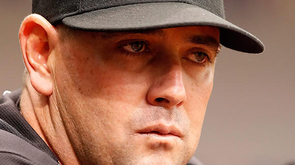 New Cubs bench coach Brandon Hyde, pictured in 2011 when he was serving as interim manager of the Florida Marlins.