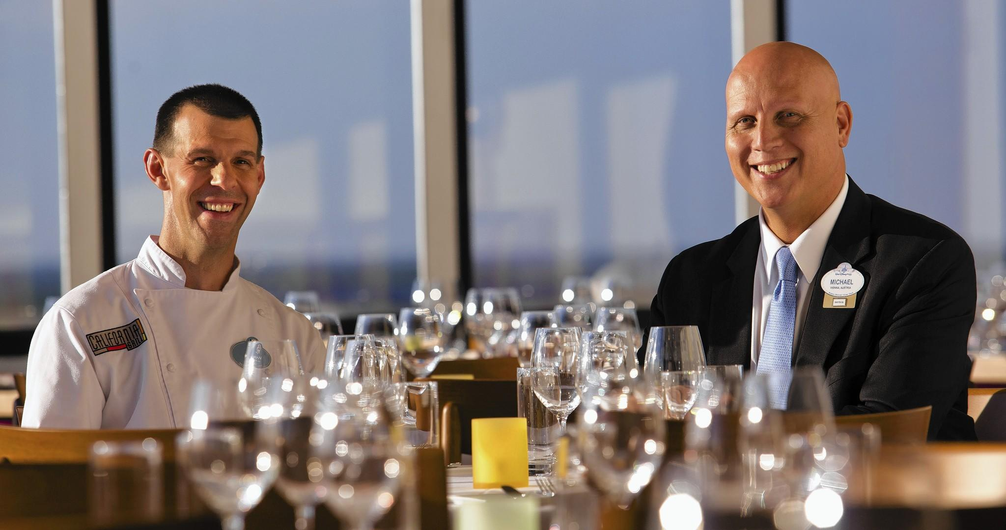 Chef Brian Piasecki, left, and general manager Michael Scheifler oversaw the transformation of the new California Grill at Walt Disney World.