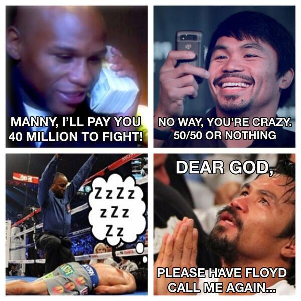 Floyd Mayweather tweeted this photo montage on Dec. 23.