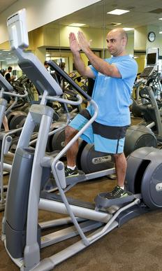This machine is popular, as most people find it easy to read while working out. Concentrating on other things, however, takes away from exercise benefits and can affect form. Aim for an upright position when on the elliptical.