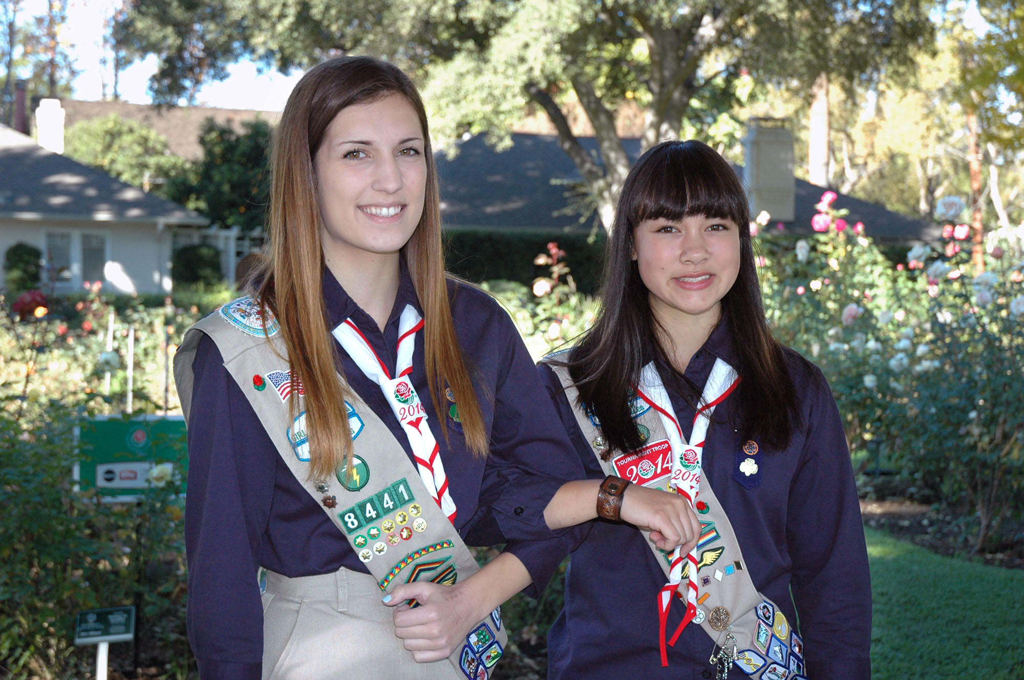 Gold Award Girl Scouts Bea Breckheimer and Catherine Giese, both of La Crescenta, will be two of 50 Tournament Troop members carrying the banners announcing the award-winning floats in the Pasadena Tournament of Roses Parade on New Year's Day.