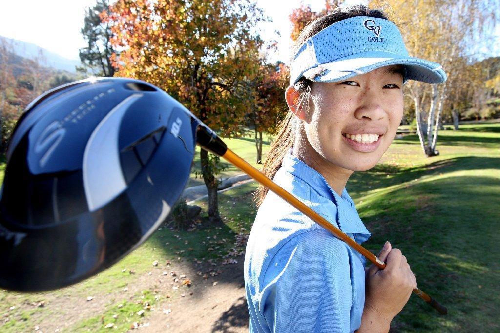 Crescenta Valley High's Jocelyn Chia is the All-Area Girls' Golfer of the Year for a fourth straight year. (Roger Wilson/Staff Photographer)