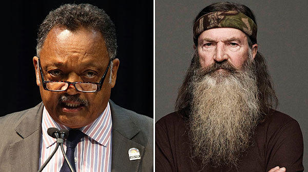 Jesse Jackson Sr., left, and Phil Robertson