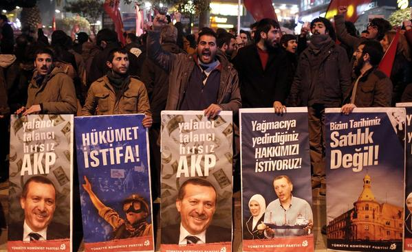 Anti-government protest in Istanbul