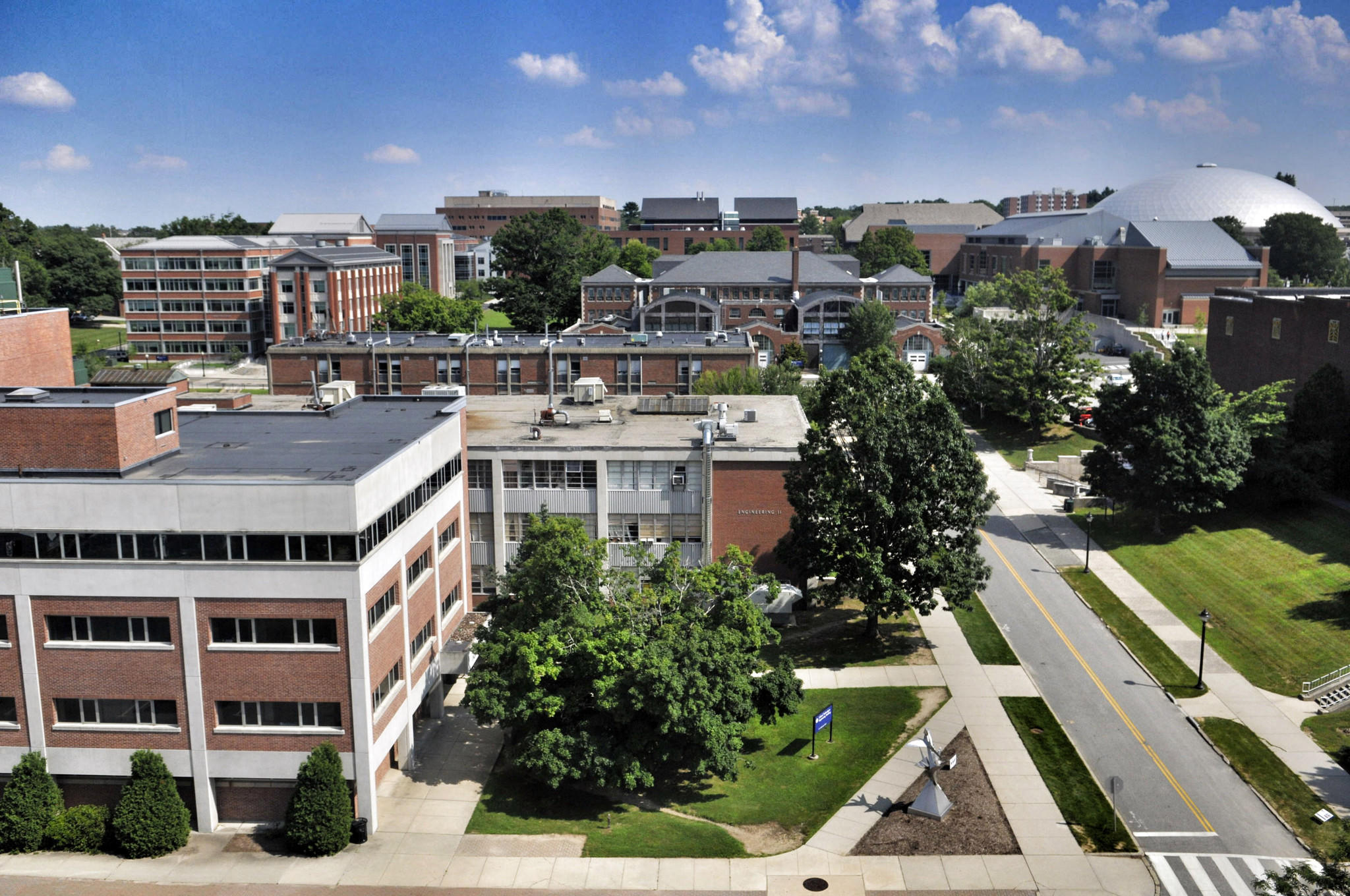 View of the UConn campus.
