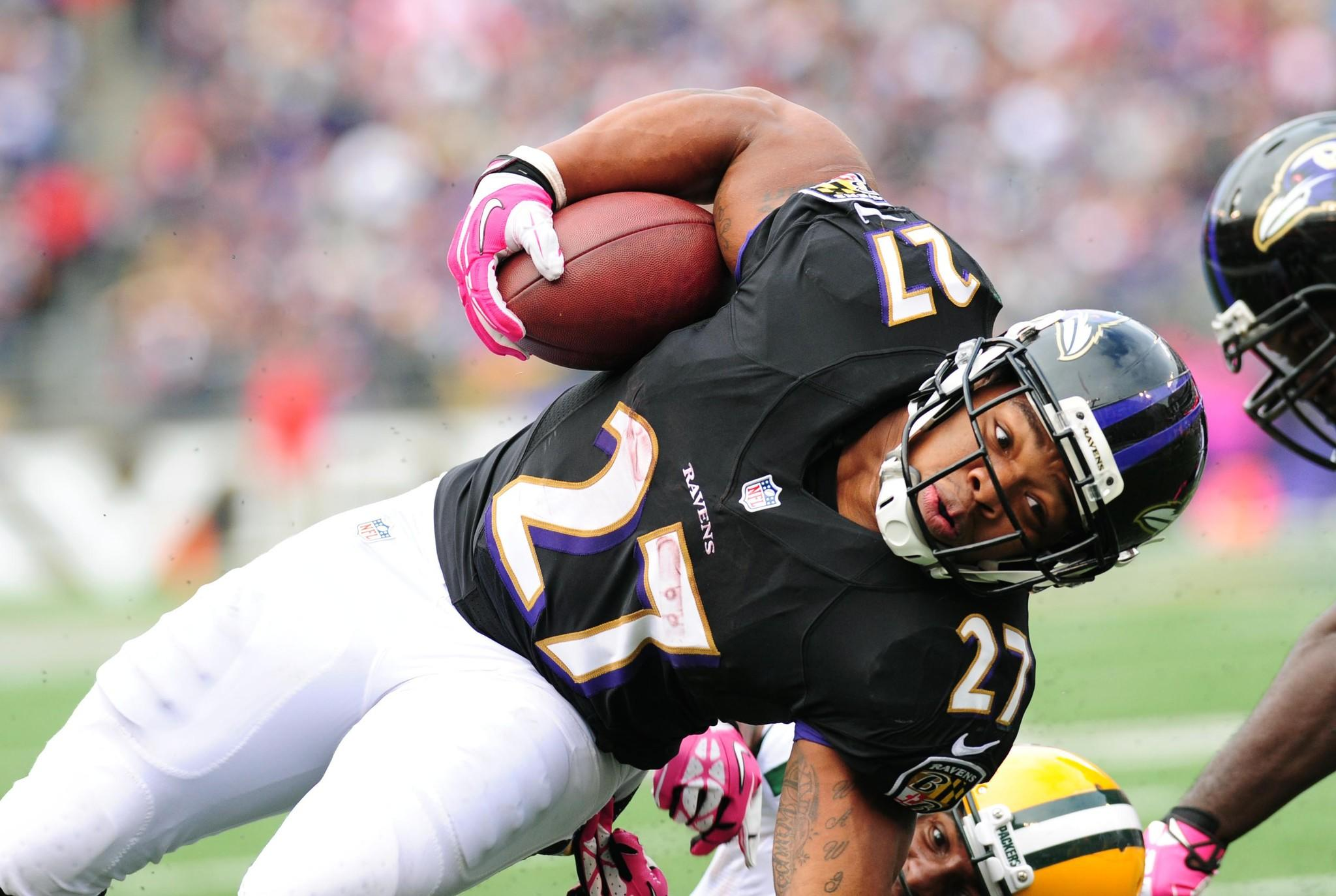 Ray Rice has averaged just 1.53 yards after contact on 259 total touches.