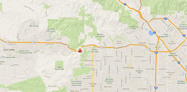 Map Of Lilac Fire >> Brush fire burning in Santa Susana Pass - latimes