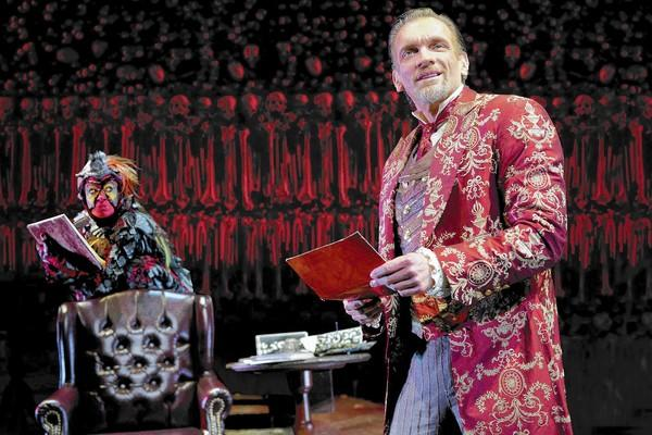 "Brent Harris stars as Screwtape in ""The Screwtape Letters,"" on stage at the Irvine Barclay Theatre from Dec. 27 to 29."