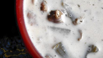 La Conner Brewing Co.'s clam chowder