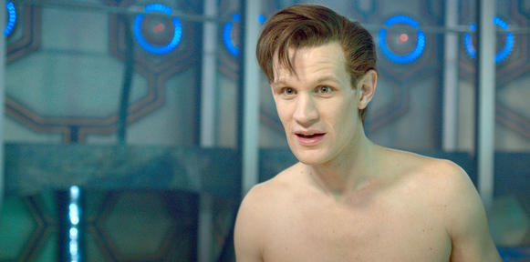 "Matt Smith in the ""Doctor Who"" episode ""The Time of the Doctor."""