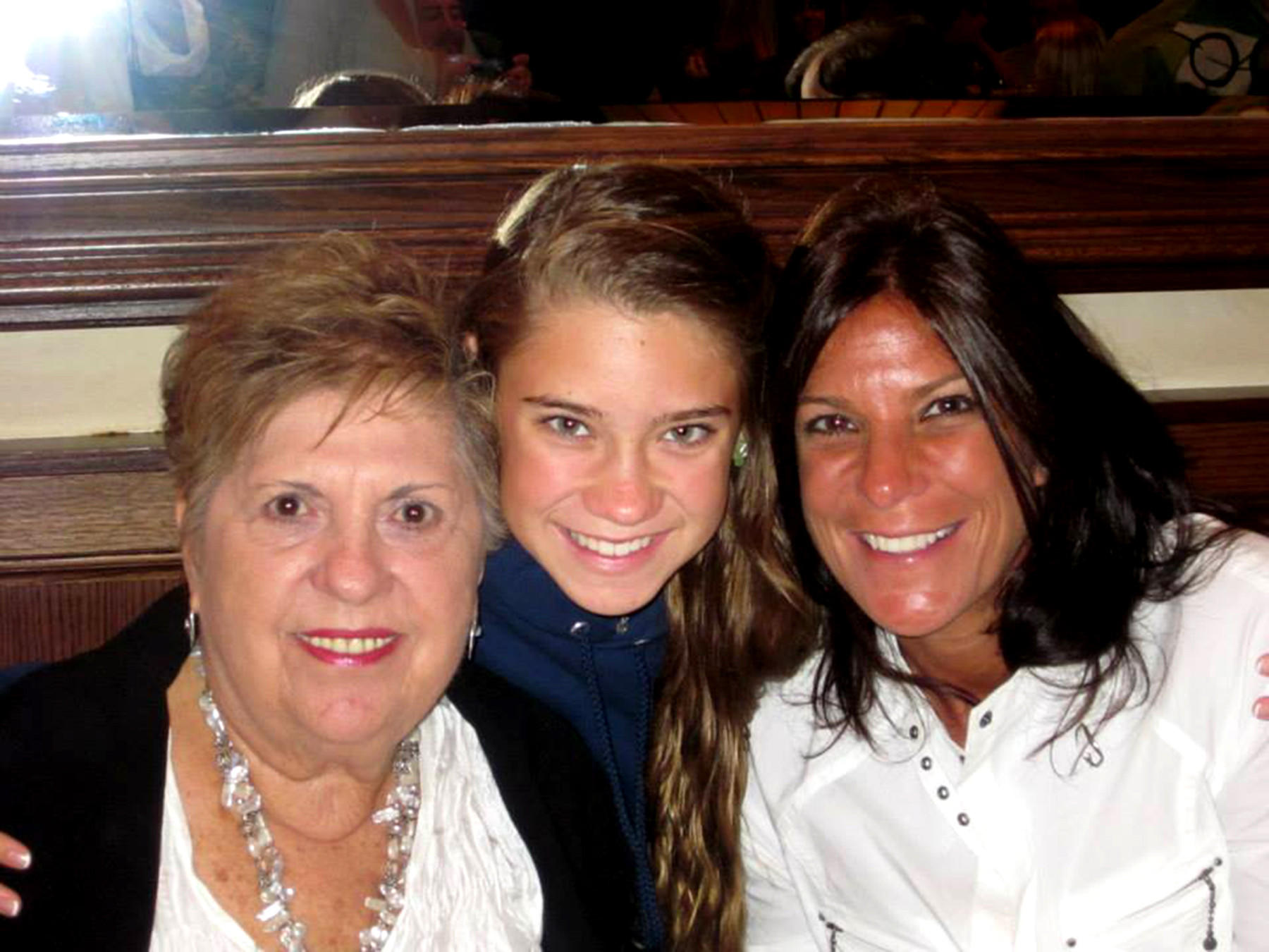 "Sally Balkin, left, spending time with Michele Scott, her ""adopted"" daughter far right and Michele's daughter Erin."