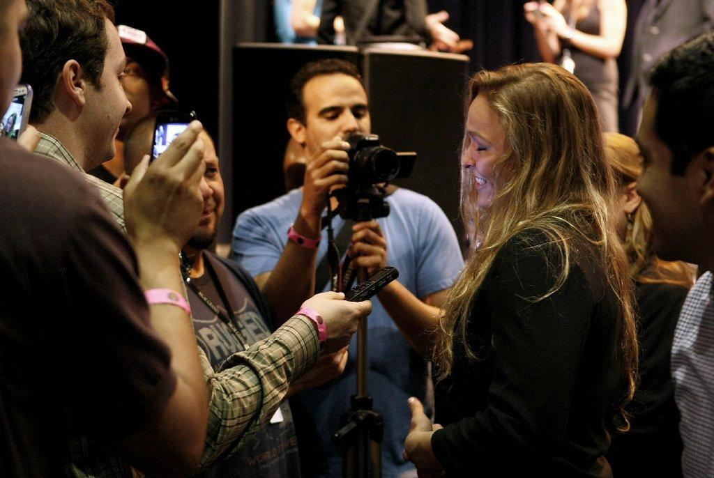 UFC champion Ronda Rousey is looking forward to defending her MMA championship on Saturday. (Raul Roa/File Photo)