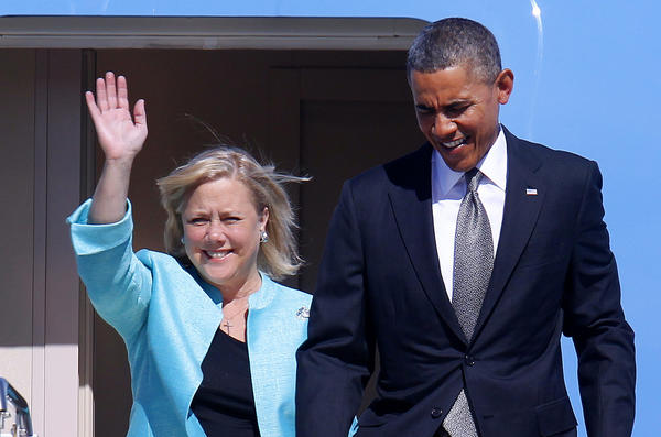 Sen. Landrieu and President Obama