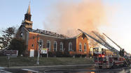 Four-alarm fire damages Northeast Baltimore church
