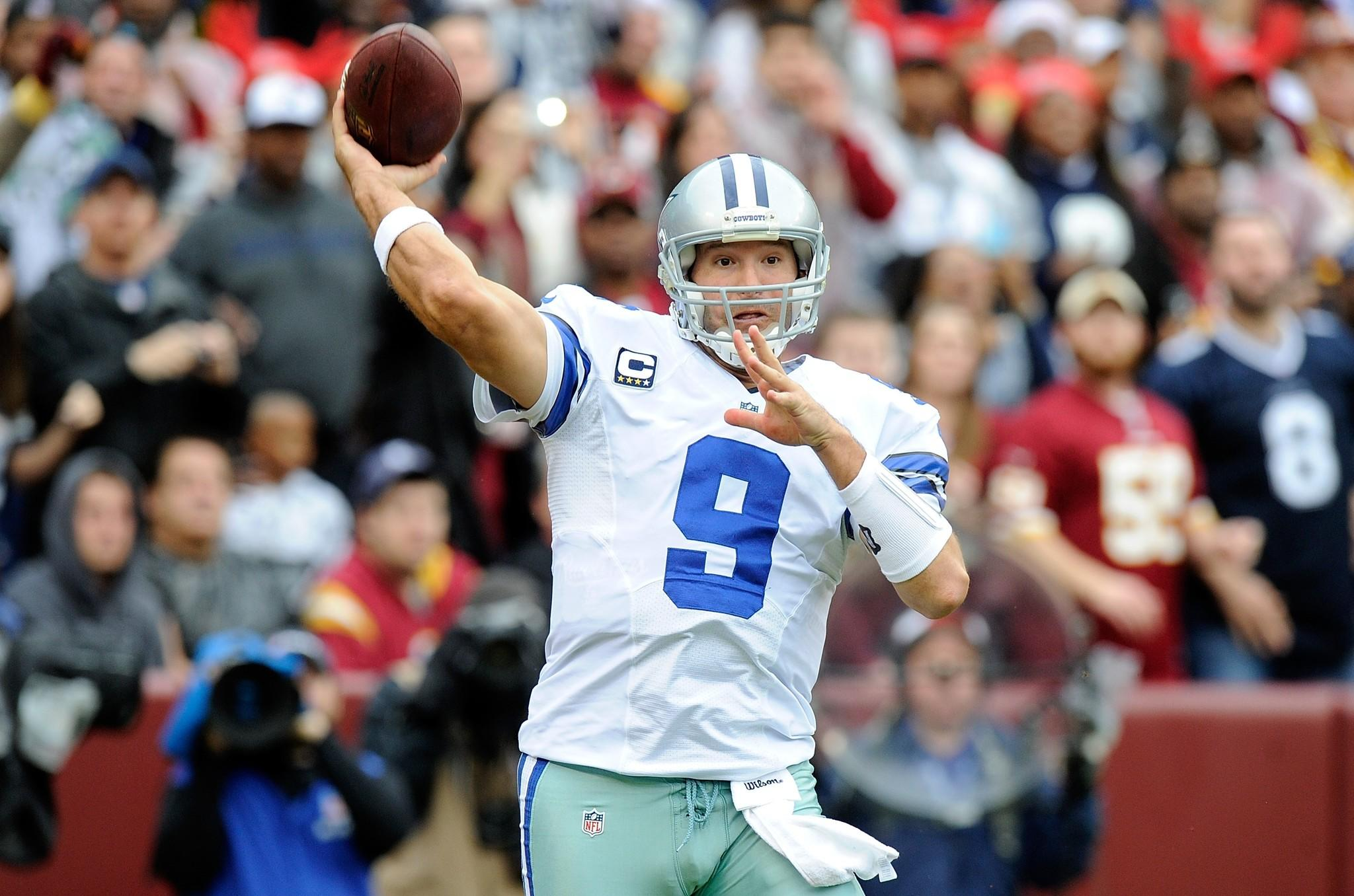 Cowboys quarterback Tony Romo.