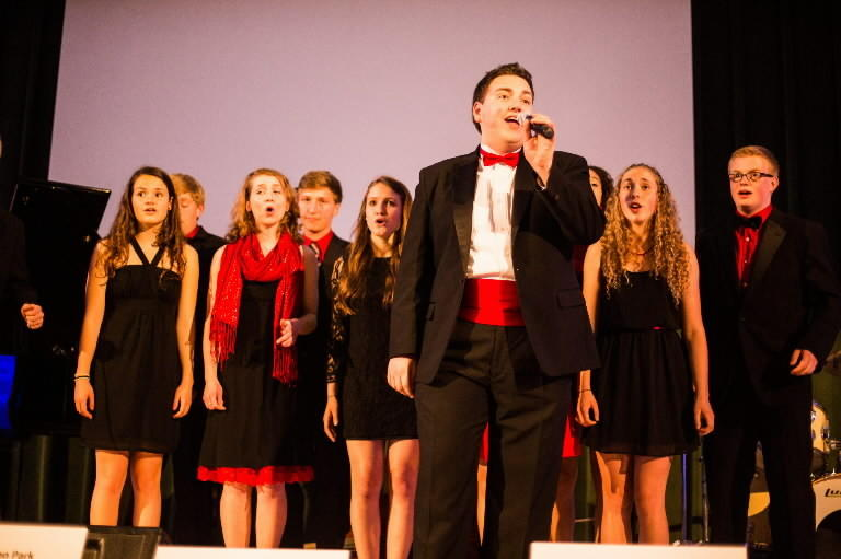 The 15th annual Mayor's Charity Ball is scheduled for Saturday, May 10, 2014, at town hall. Pictured at the 2013 gala is Be S#arp, an a capella group from Conard High School.