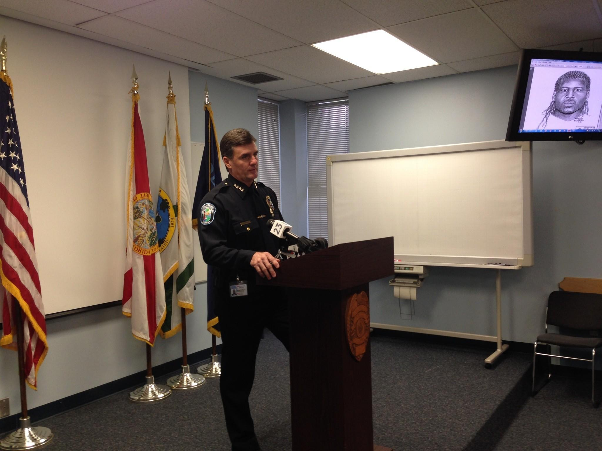 Hollywood Police Chief Frank Fernandez says anonymous tips from the community helped police track down a man accused of raping a Hollywood teen on Dec. 21. The chief, speaking Friday at a press conference, praised both the tipsters and detectives.