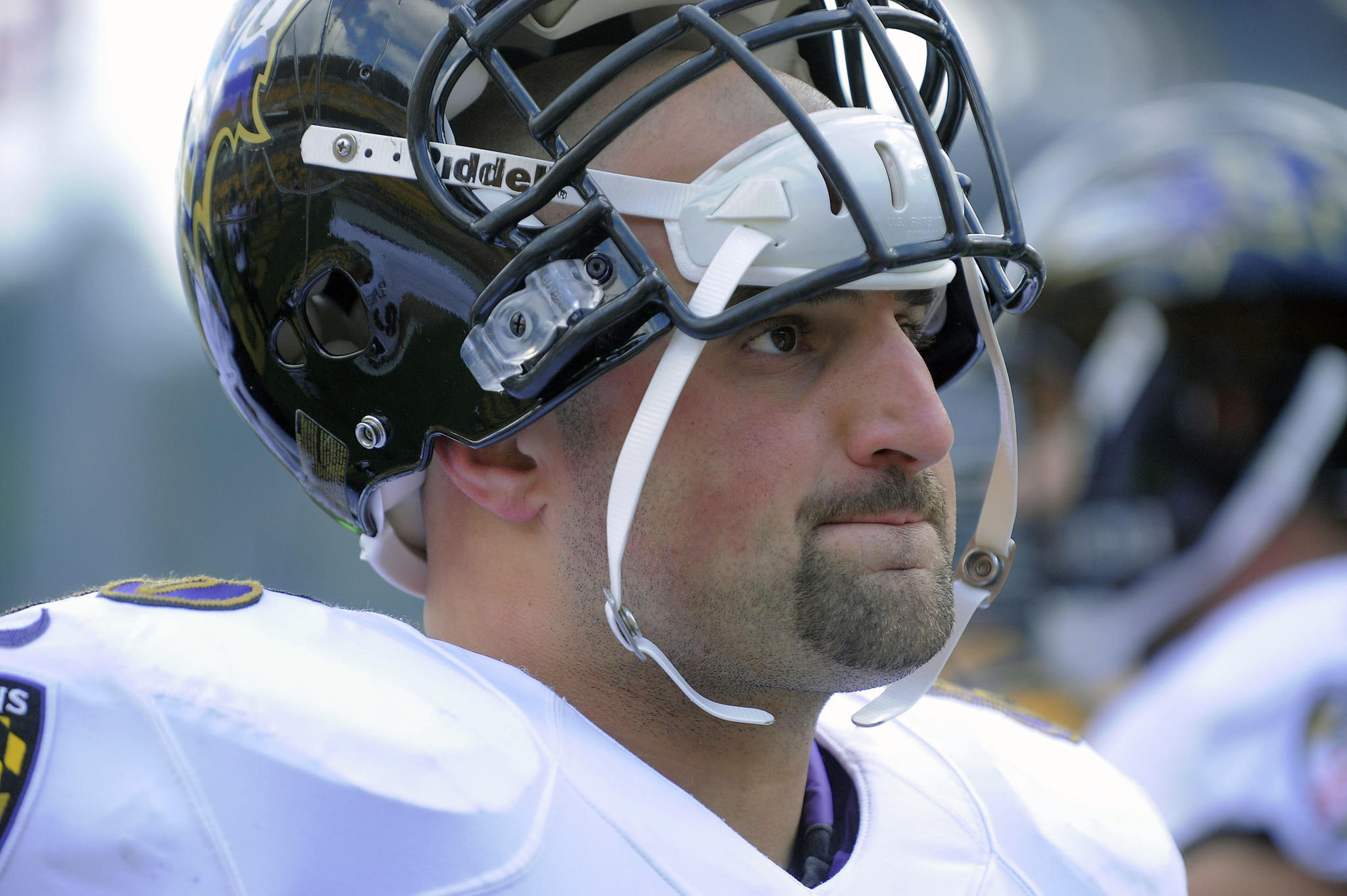 Ravens center Gino Gradkowski, shown during a game at Pittsburgh in October, has started every game this season, his second in the NFL.