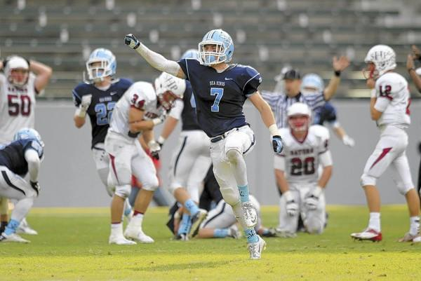 Corona del Mar High's Barrett Barbato is the Daily Pilot High School Football Player of the Week.