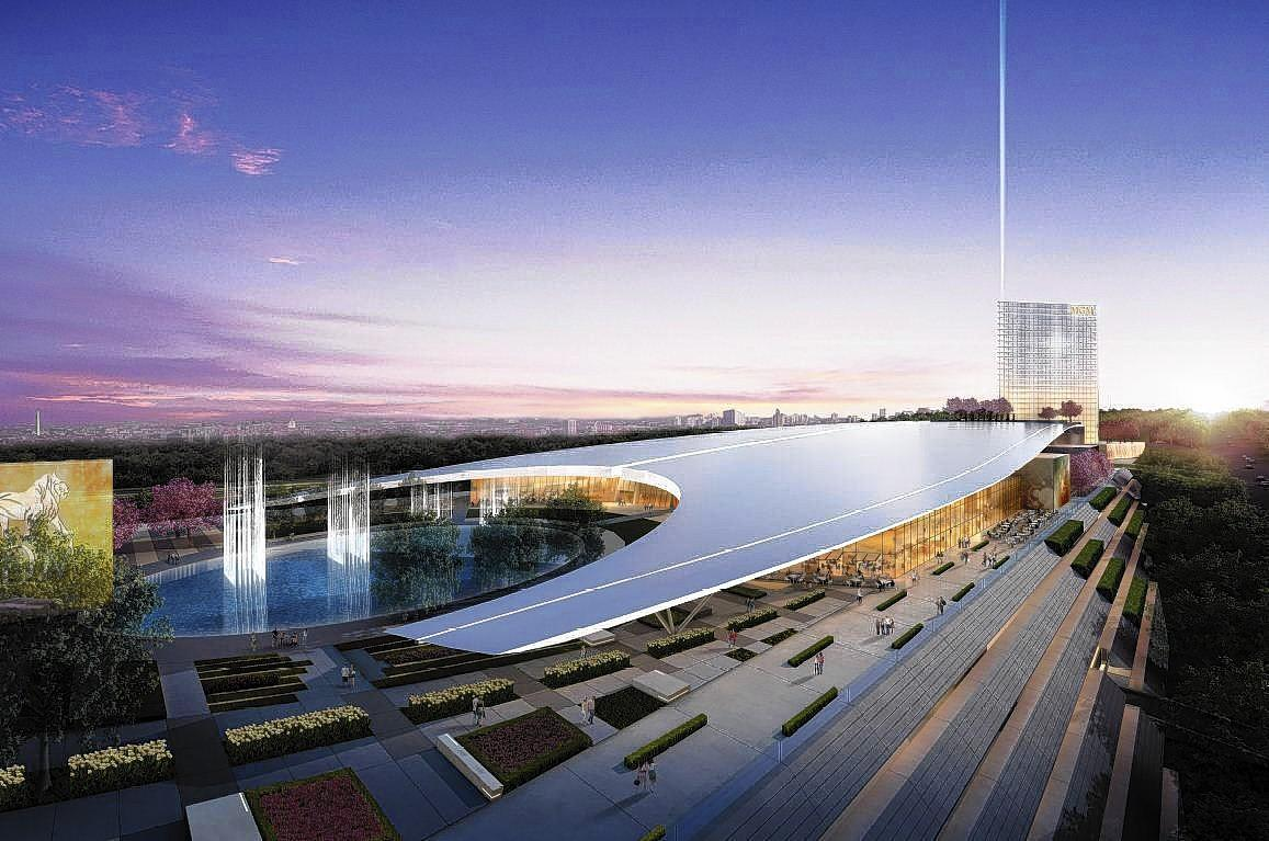 A rendering of the MGM National Harbor complex.