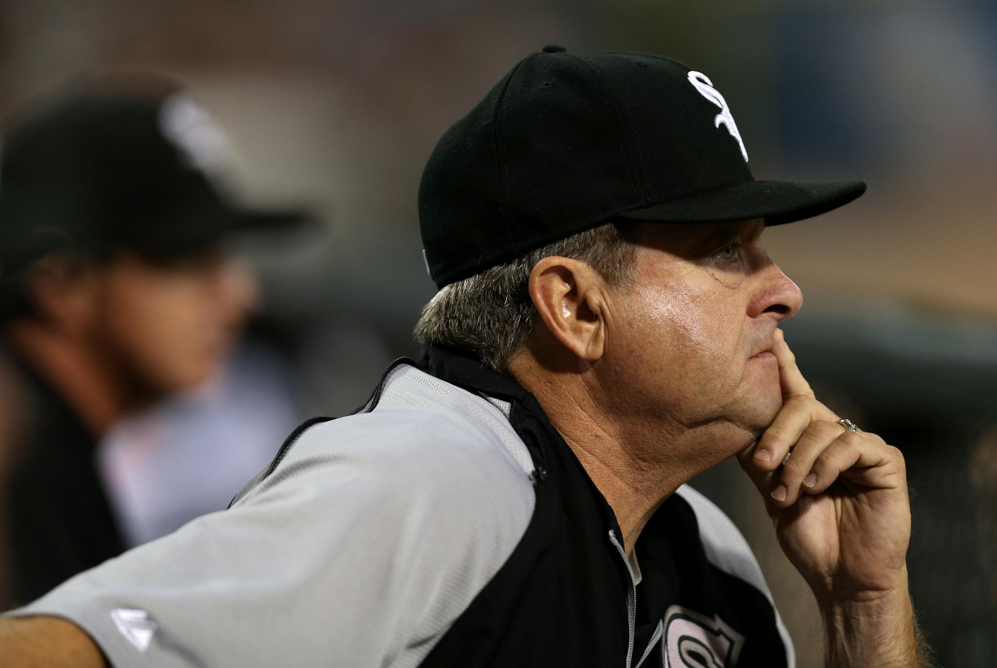 White Sox pitching coach Don Cooper watches a game in September.