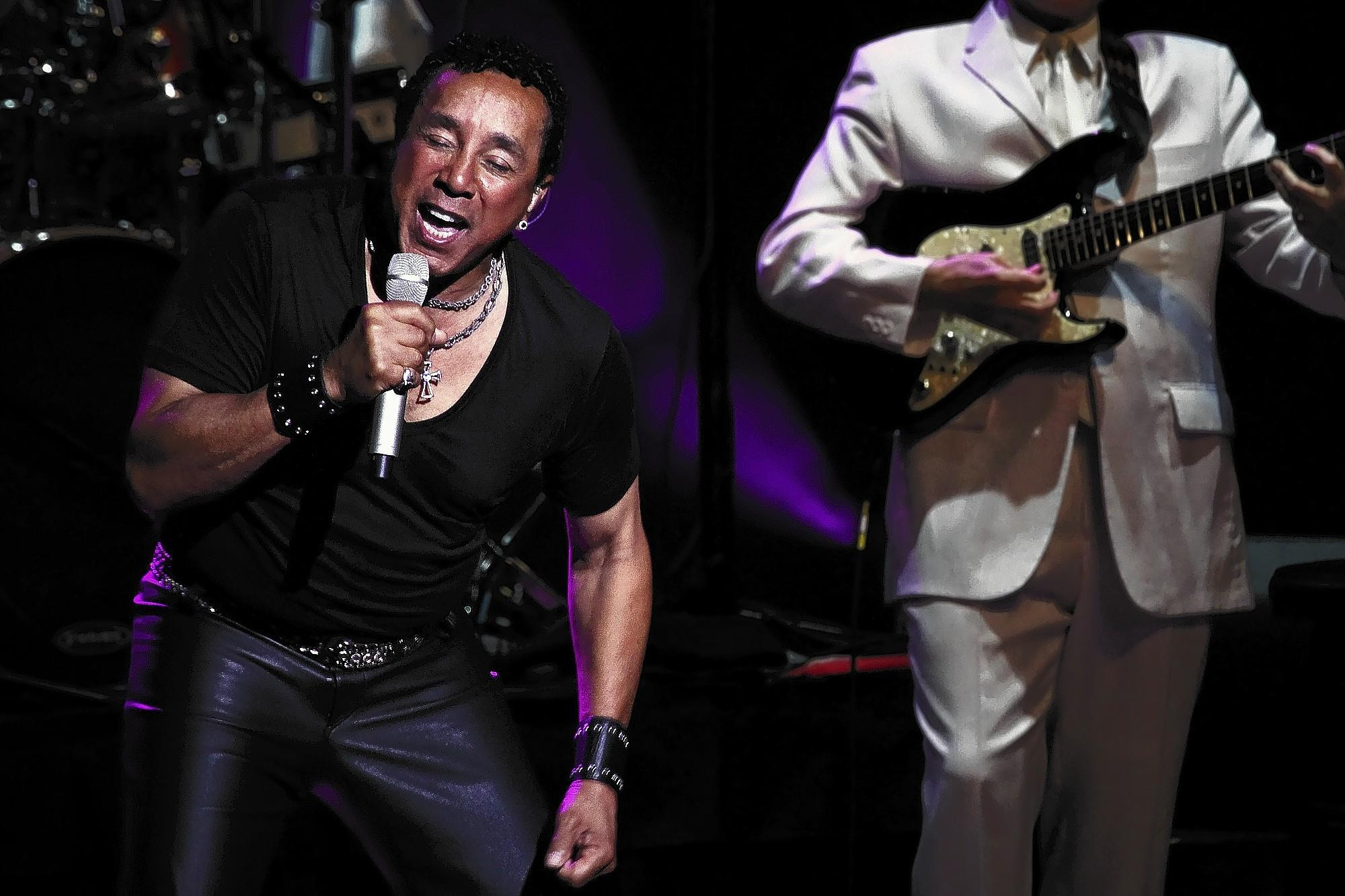 Smokey Robinson croons through his hits at a performance at the Ferguson Center for the Arts in Newport News last week.