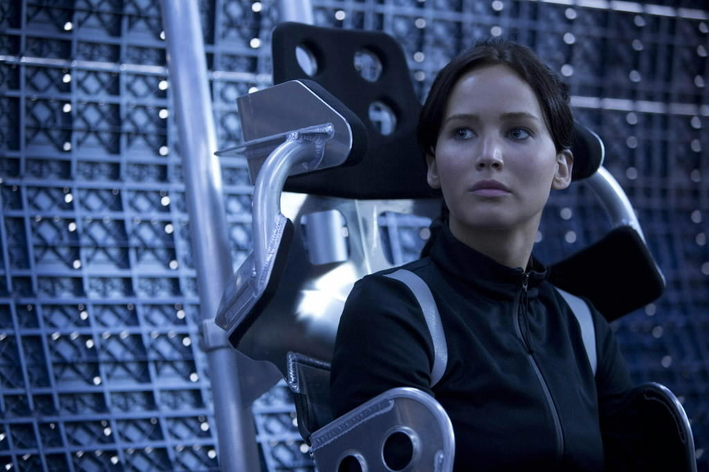 "Jennifer Lawrence as Katniss Everdeen in ""The Hunger Games: Catching Fire"""