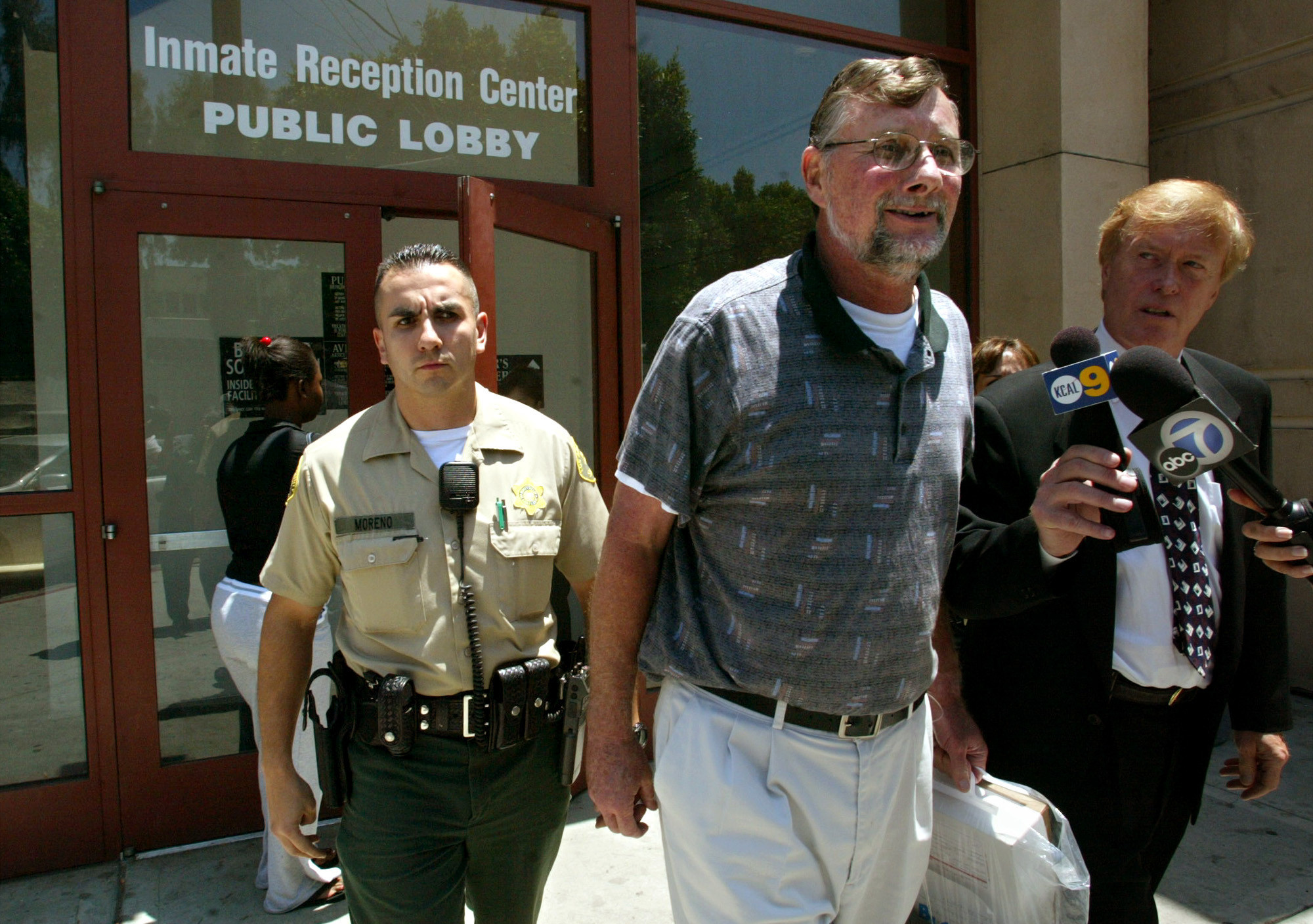 Retired priest Michael Wempe, 63, after a judge ordered his release on his own recognizance following a U.S. Supreme Court ruling that California violated the Constitution when it passed a law to revive criminal prosecutions in longago sexualabuse cases.
