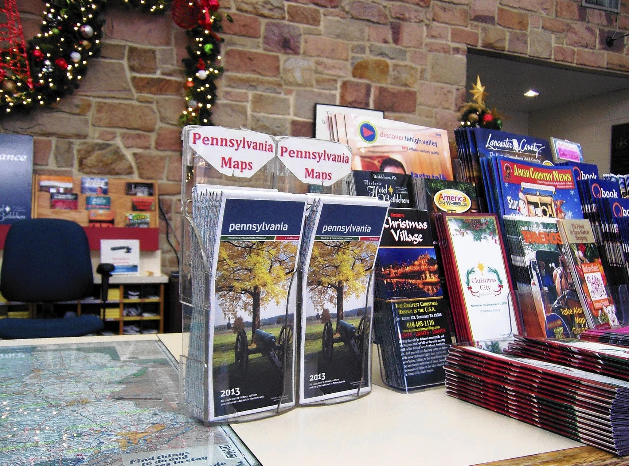 Free Pennsylvania road maps are available at PennDOT rest stops, including at the Welcome Center on Interstate 78 west at the Delaware River Toll Plaza.