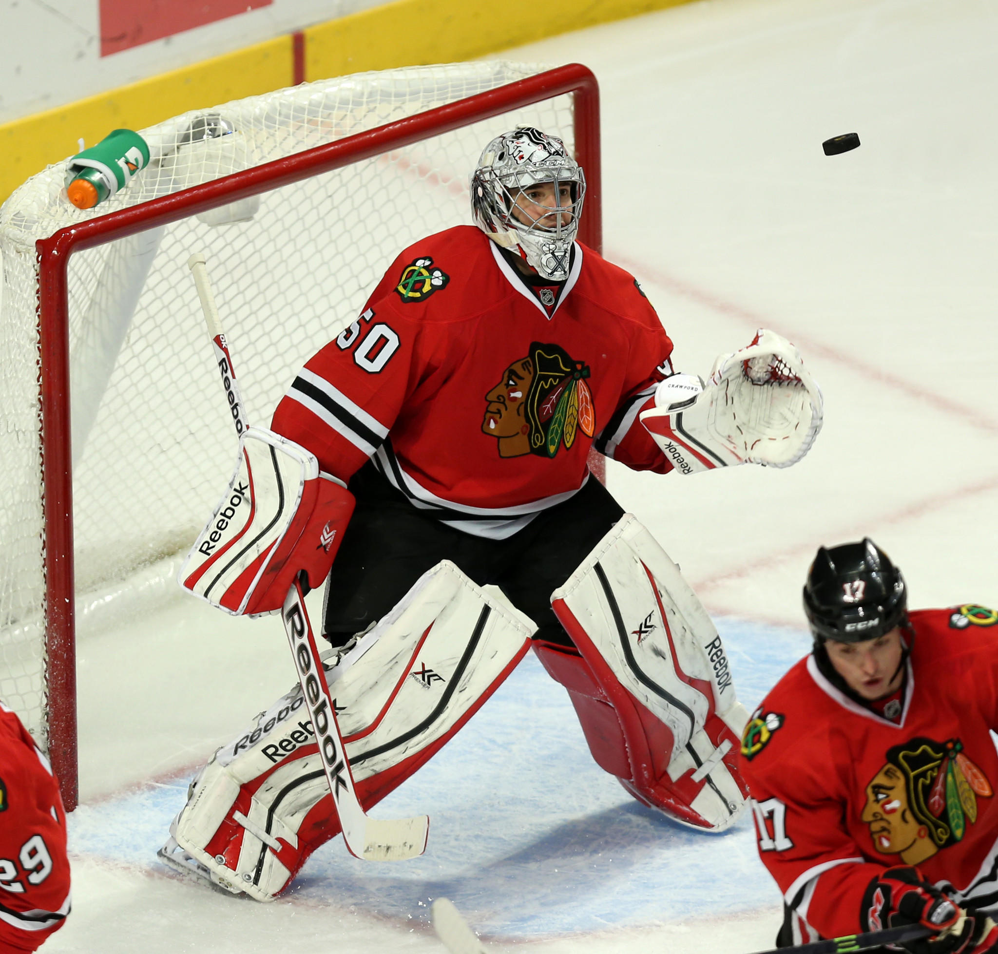 Chicago Blackhawks goalie Corey Crawford hopes to be back in action soon.