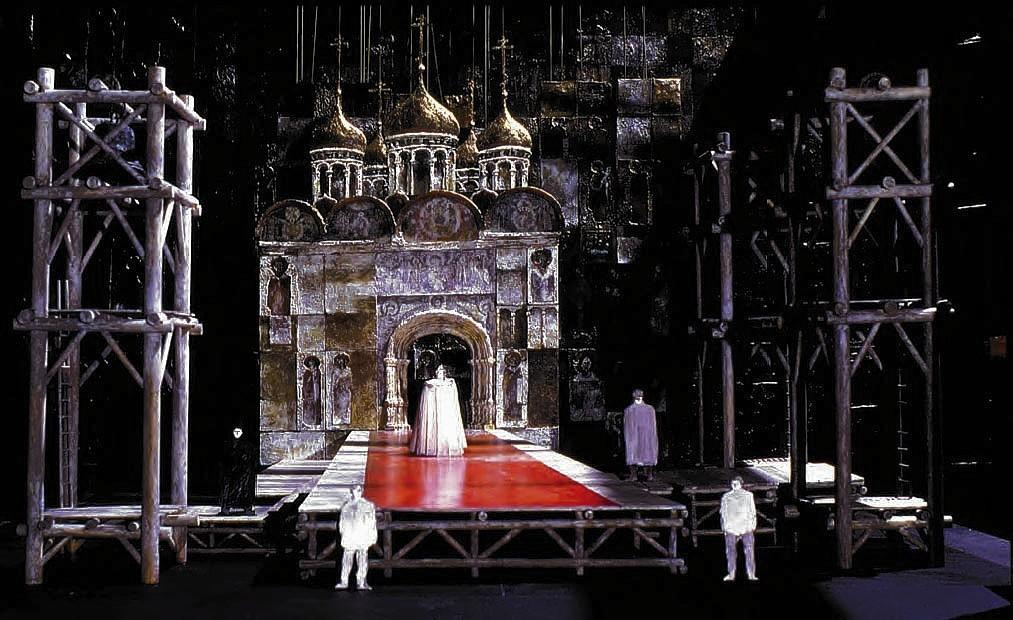 A scale model for Boris Gudunov (Coronation) 1974, Metropolitan Opera, New York.