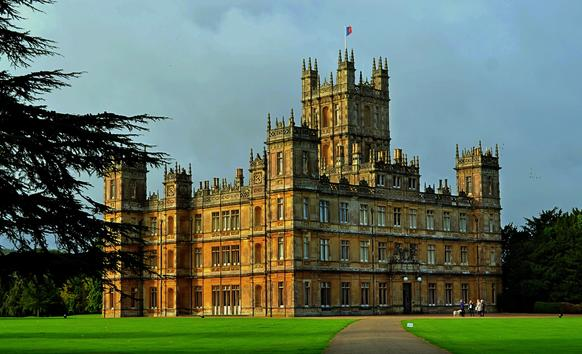 "Highclere Castle is the stand-in for the fictional ""Downton Abbey"" series on PBS. The castle is about five miles from the town of Newbury, England."