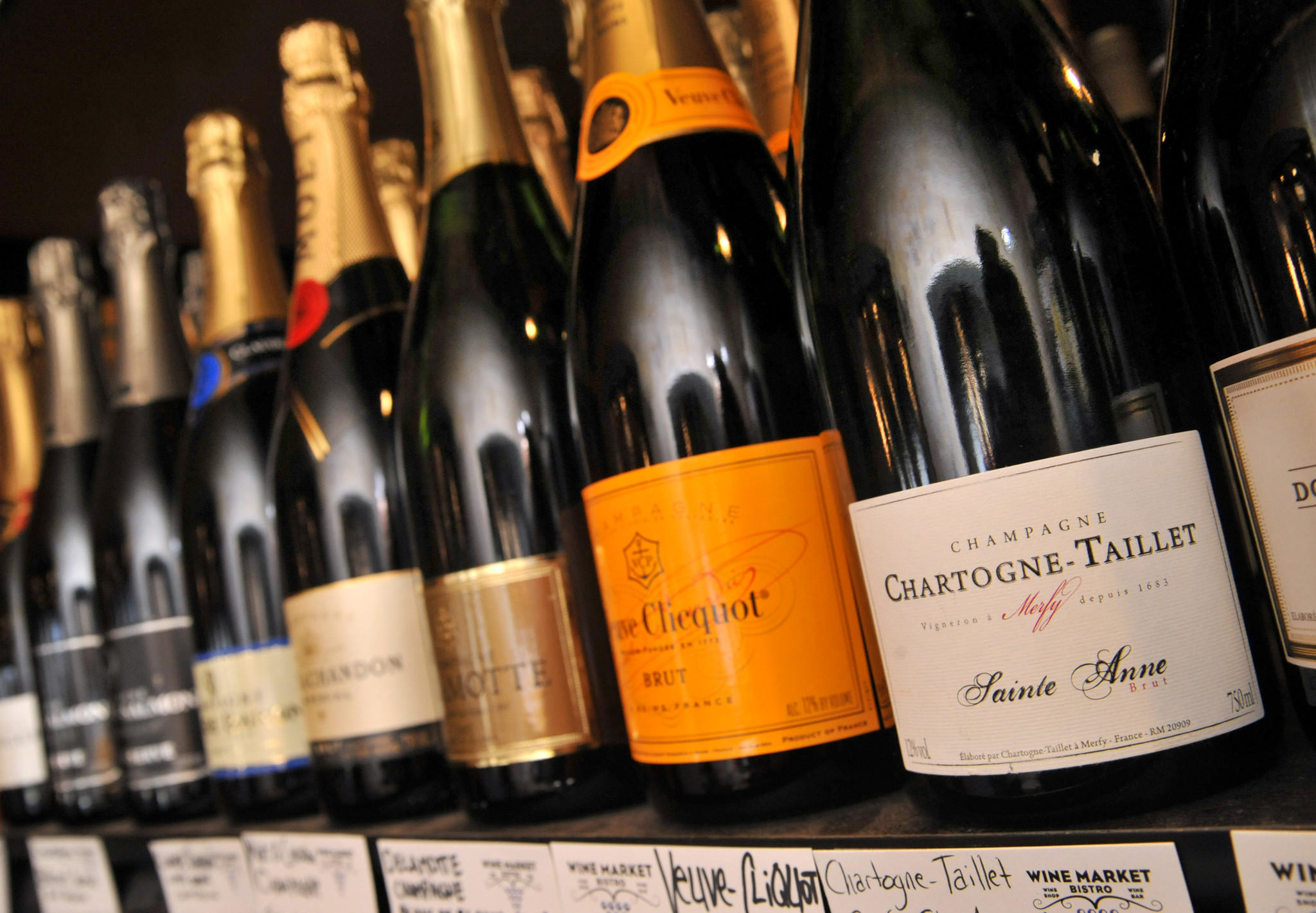 Sales of French champagne may be up this year, according to Lucien Walsh, wine director at The Wine Market in Locust Point.