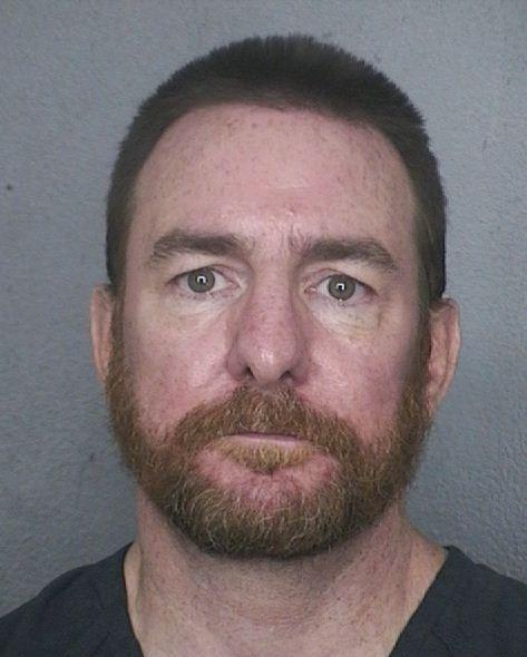 Brian Henderson, 49, is accused of robbing a Chase Bank in Dania Beach and making bomb threats to Publix stores.