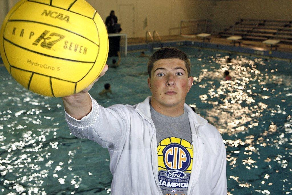 Glendale High's Arman Momdzhyan, the CIF Southern Section Division V Player of the Year, was also selected as the All-Area Boys' Water Polo Player of the Year. (Tim Berger/Staff Photographer)