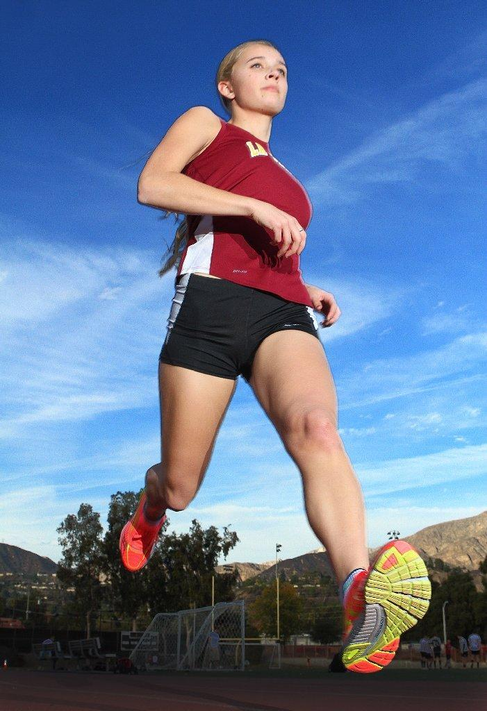 La Cañada High senior Anna Frederich is the All-Area Girls' Runner of the Year. (Tim Berger/Staff Photographer)
