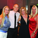 """Teresa Orr, left, Nick Murtha, Dr. Lisa Learn and Laurina Anderson attended the third annual """"Hypoglycemia Takes Center Stage Gala: Casino Royale,"""" which took place at the Hyatt Regency Pier Sixty-Six."""