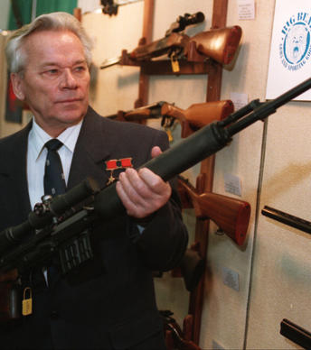 "Kalashnikov created the AK-47, a cheap, simple, rugged assault rifle that became the weapon of choice for more than 50 standing armies as well as drug lords, street gangs, revolutionaries, terrorists, pirates and thugs the world over. Historians say the AK-47 and its spinoffs changed combat forever. He was 94. <a href=""http://www.latimes.com/obituaries/la-me-mikhail-kalashnikov-20131224,0,474931.story"" class=""center_label"">Full obituary</a>  