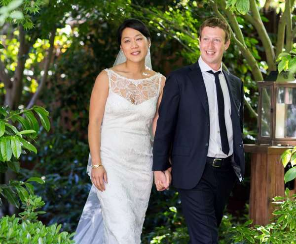 Mark Zuckerberg and his wife, physician Priscilla Chan