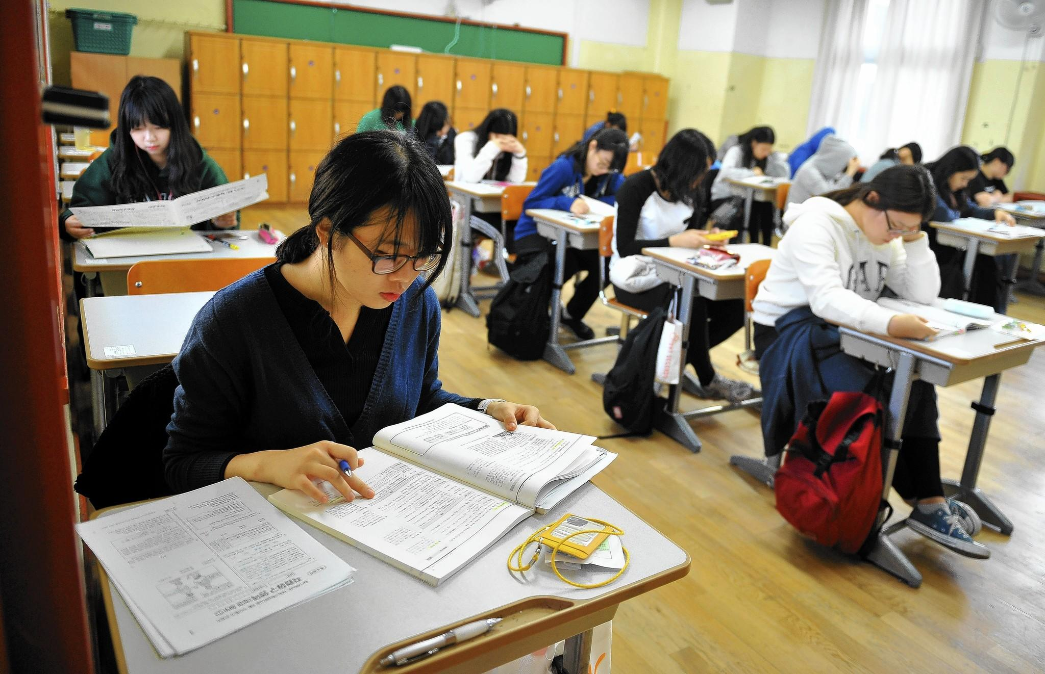 South Korean students rank high in academic ability. Some experts attribute their achievement levels to Korean parents pushing their children to get better and work harder.