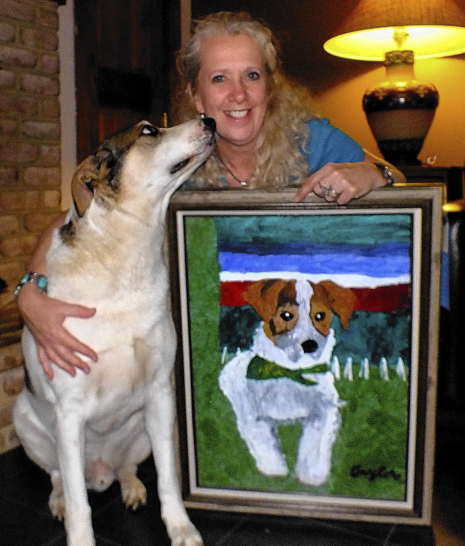 Corona, a 6 year old Jack Russell mix, owned and loved by Angela Faidley, 54, of Macungie.