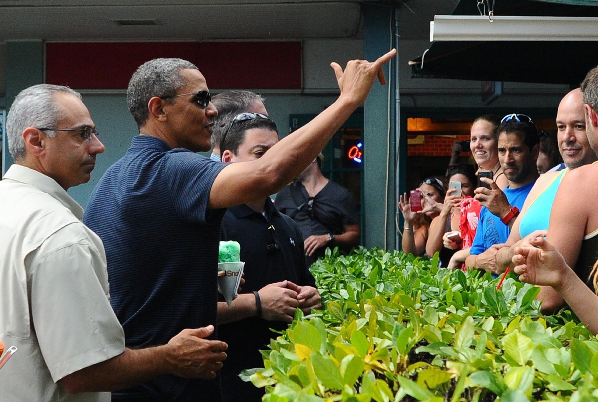la pn obama hawaii shave ice 20131231