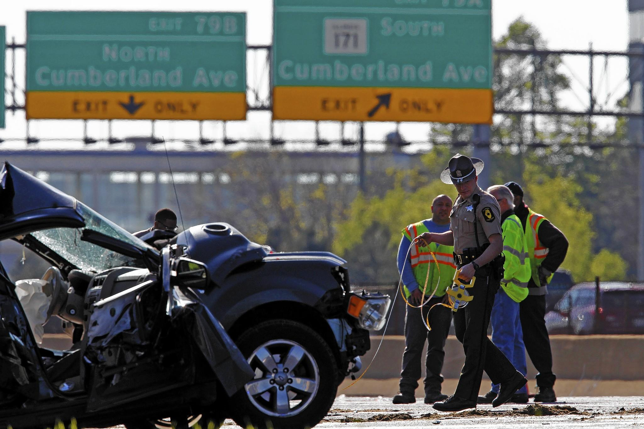 One of Illinois' vehicle fatalities in 2013 was in a multiple-vehicle accident on the outbound Kennedy Expressway near Cumberland Avenue on May 13.