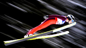 Female ski jumpers are taking their place on the hill
