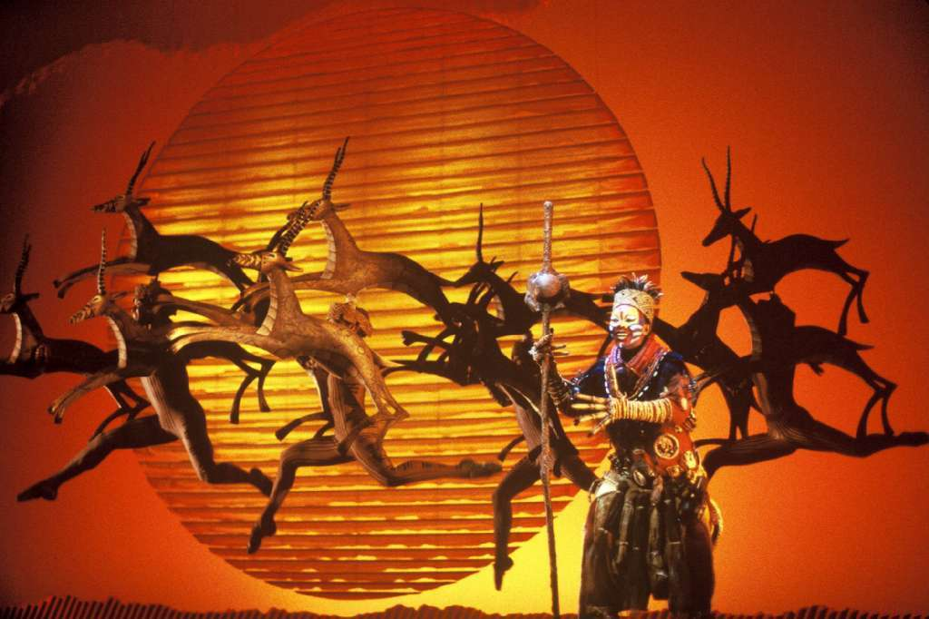 "A scene from Disney's musical ""The Lion King."""