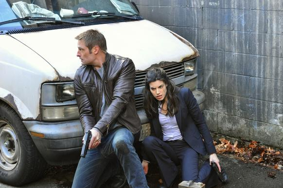 "Josh Holloway and Meghan Ory in ""Intelligence,"" which premieres at 9 p.m. Jan. 7 on CBS."